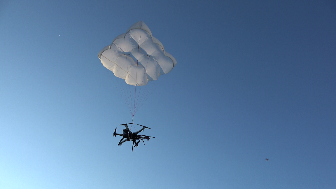 Drone Rescue Systems tested its parachute solution