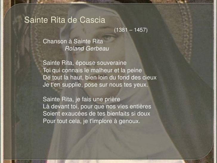 Hommage à Sainte Rita