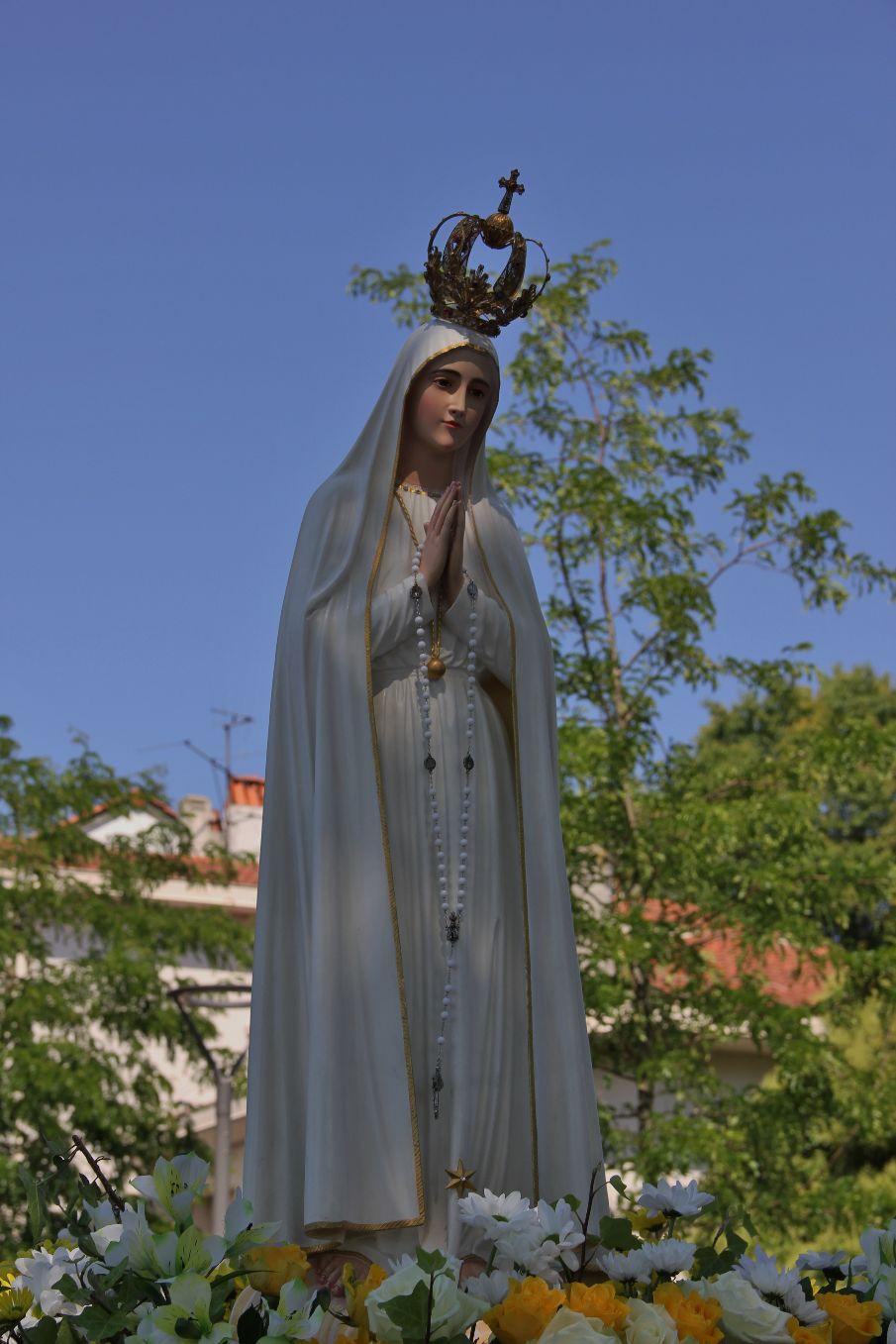 """""""Salut Reine, Bienheureuse Vierge de Fatima, Dame au Cœur Immaculé, refuge et chemin qui conduit à Dieu !..."""