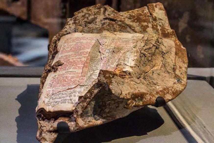 Une bible retrouvée en enfer