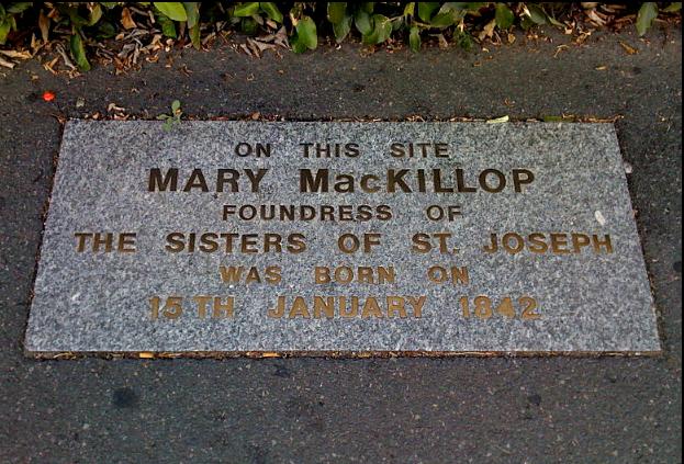 Plaque commémorative pour Mary MacKillop à Fitzroy.png