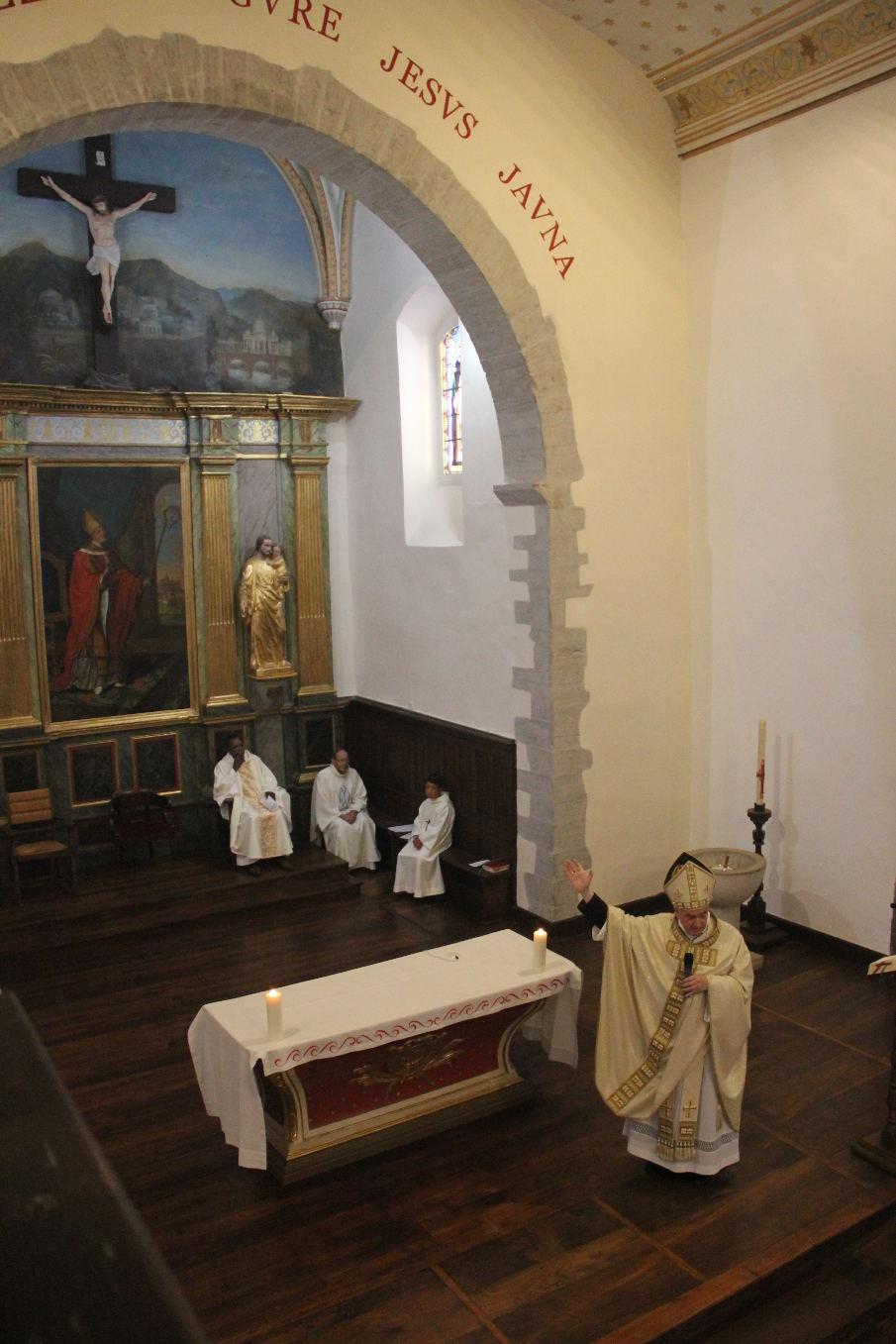 Homélie de Monseigneur Aillet qui apprécie beaucoup le travail réalisé