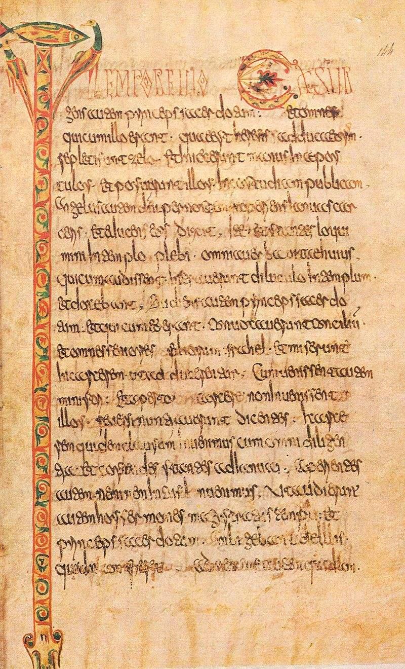 Réalisé vers700, il provient de l'abbaye de Luxeuil et est conservé, à la Bibliothèque Nationale  Paris