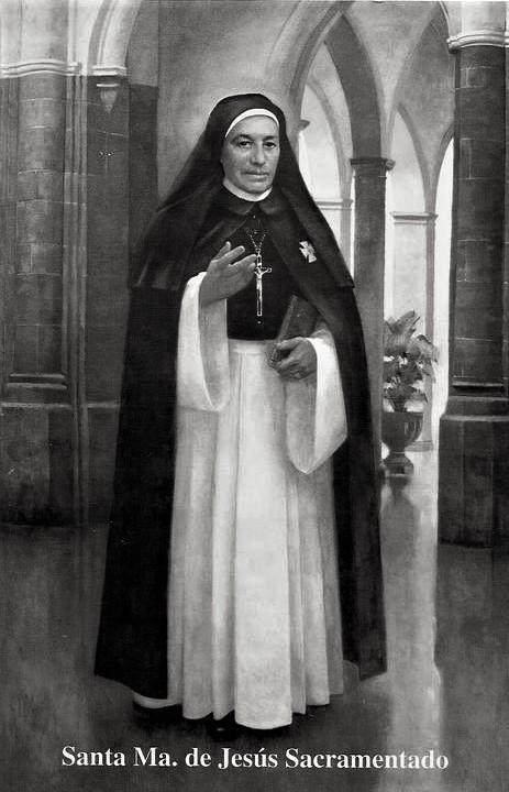 30 juillet : Fête de sainte Maria Venegas de la Torre, ou soeur Maria de Jesus Sacramentado.