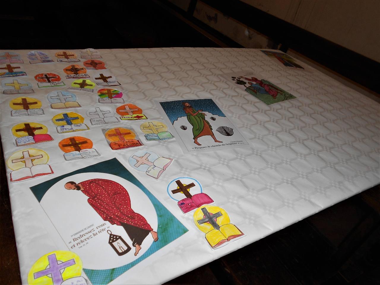 Les  enfants choisissaient de prier, d'aller à la messe, de parler avec un prêtre, de faire un dessin pour Jésus, d'écrire à leur famille, ou autre pour se tourner vers Dieu et vers leur prochain;