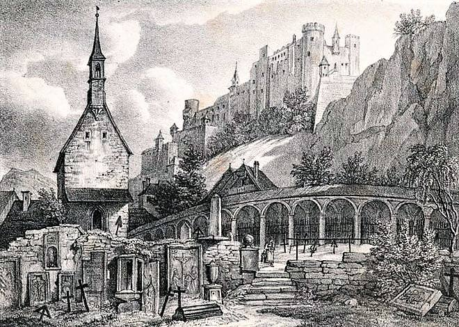 St Petrikirche où avait été enterré Joseph Haydn