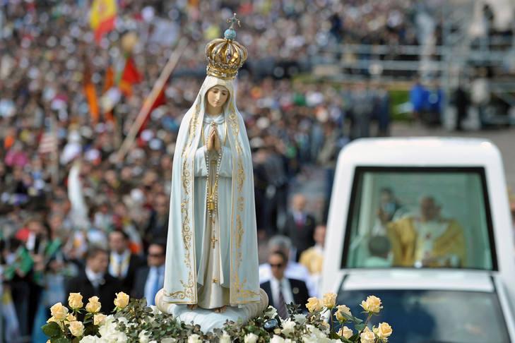 La statue de ND de Fatima