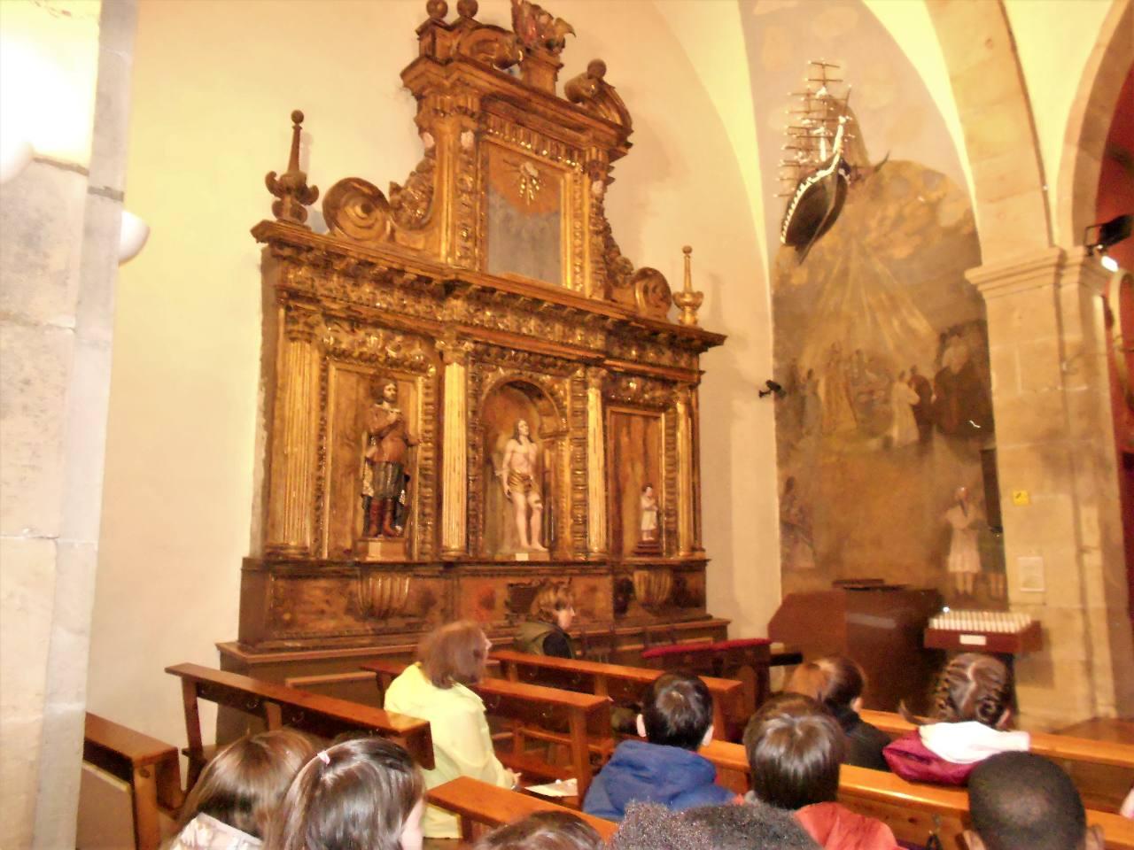 Iban indique Saint Sébastien transpercé de flèches