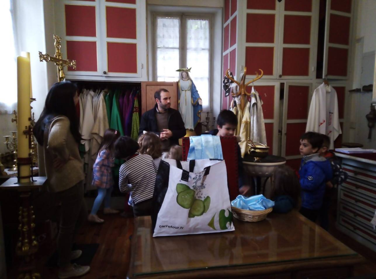 Visite de la sacristie