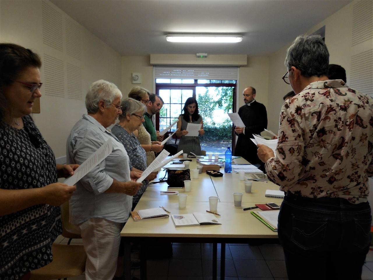 Puis Michèle qui assure les remplacements, Catherine, Iban pour qui ce sera la 1e expérience avec le primaire;