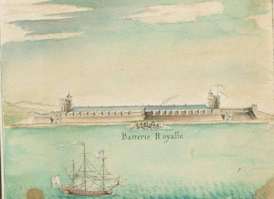 """""""Son établissement (Dame de Galbaret)  implanté dans le Faubourg situé entre les fortifications et la Batterie Royale, est le troisième plus grand établissement."""