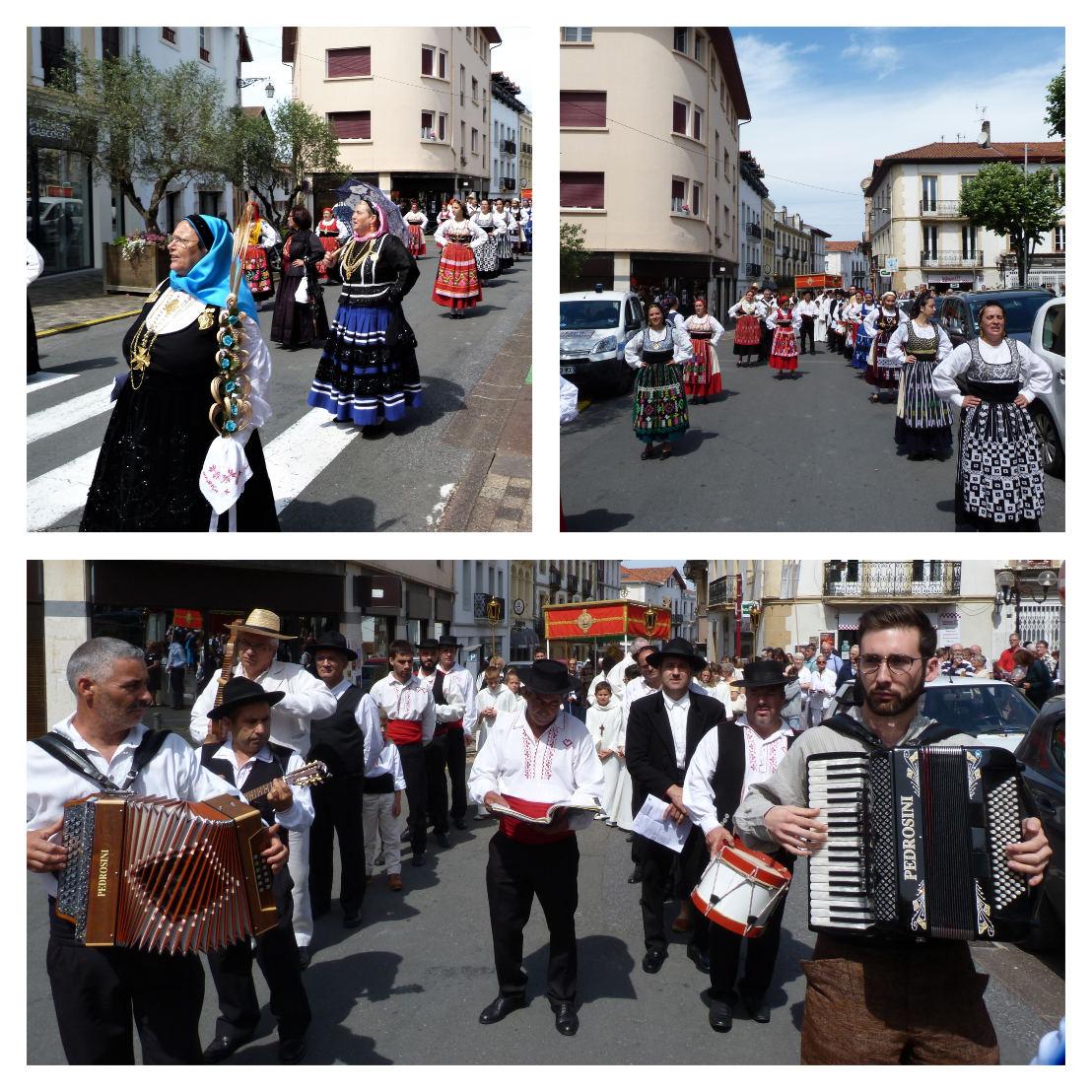 Musique et chants portugais intercalés avec les chants basques d'adoration