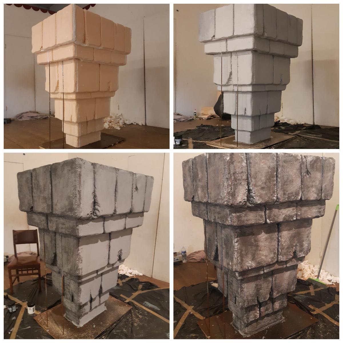 Progression de la sculpture