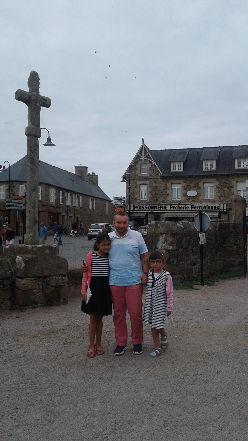 Christophe et ses filles - Perros Guirec