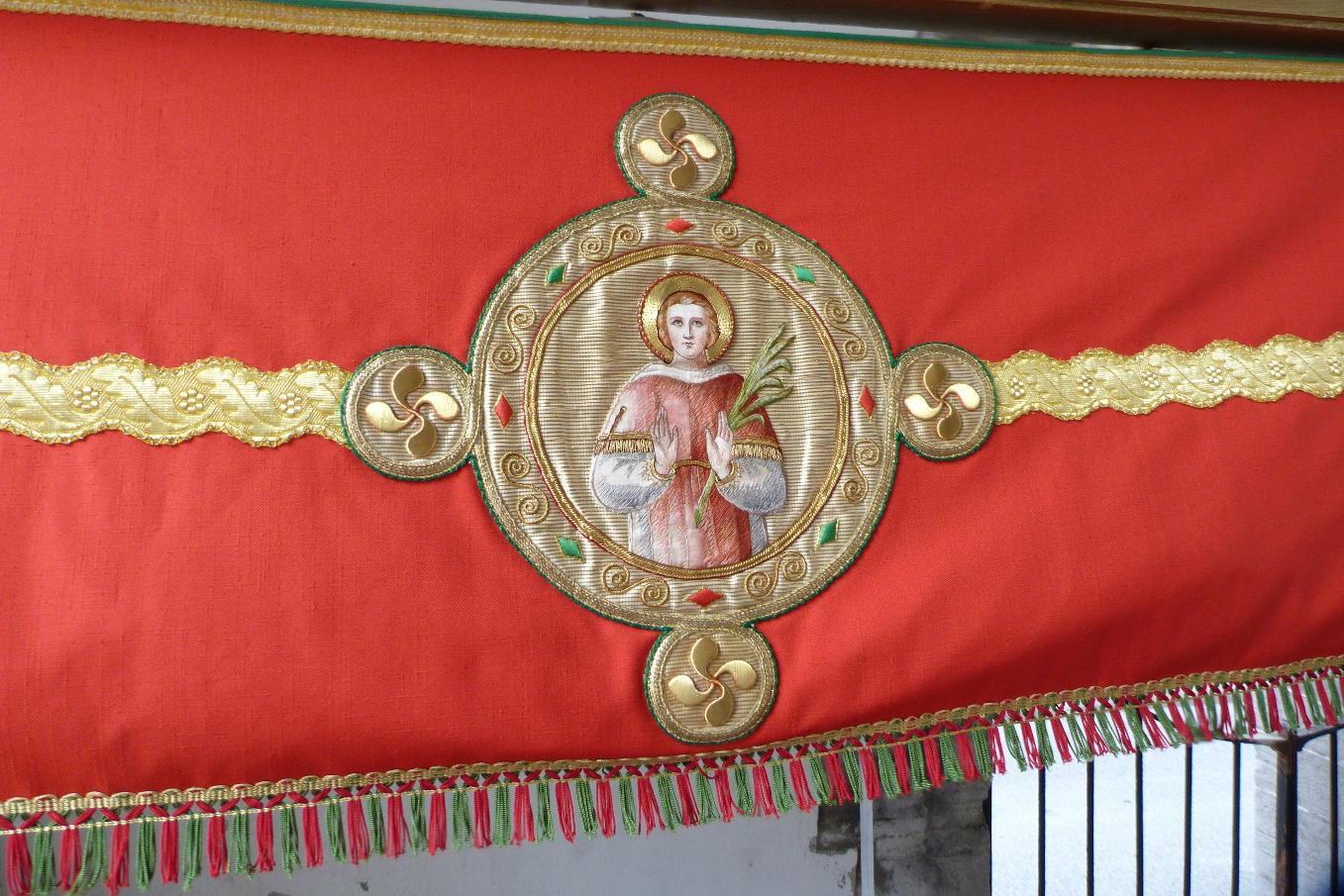 Le diacre saint Vincent, Bixintxo, commun aux églises de Ciboure et d'Hendaye