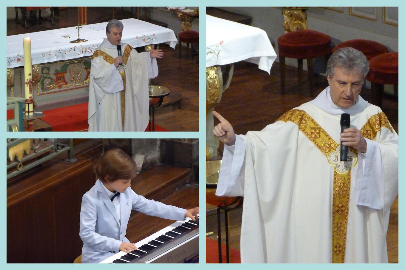 """Homélie de l'abbé Jean-Marc suivie d'un temps de méditation musicale avec Mathys pour """"Lettre à Elise"""" (Beethoven)"""