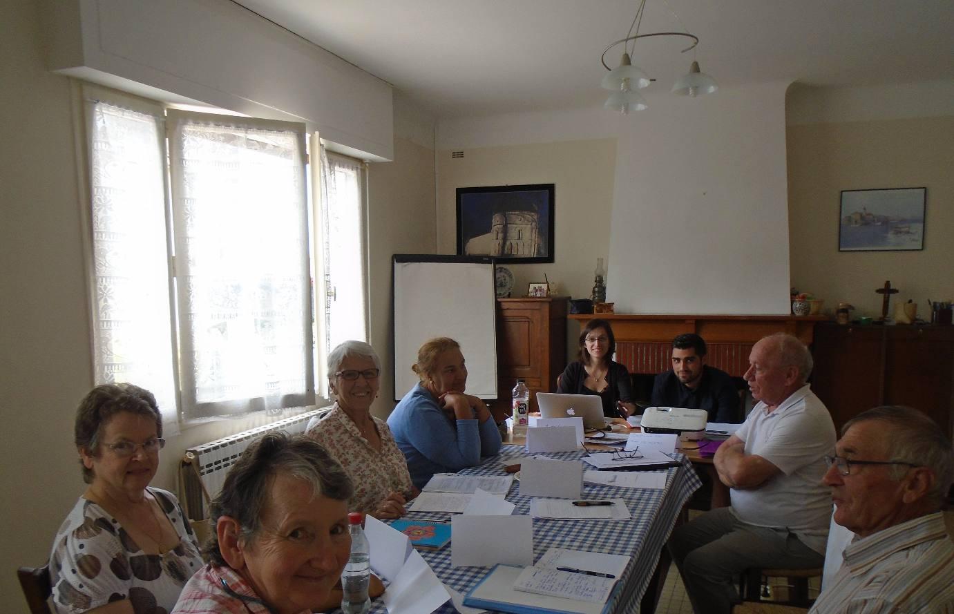 Les responsables des clubs ACE Gironde-Landes-Béarn-Pays-Basque en formation