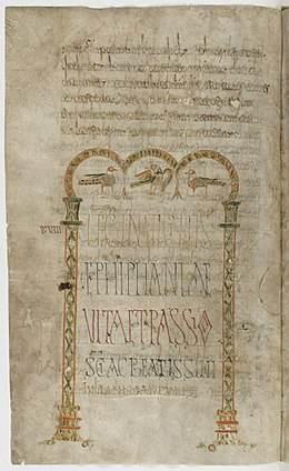Lelectionnaire de Luxeuil(BnF, lat. 9427), oulectionnarium gallicanum(lectionnairegallican) est considéré comme l'un des chefs d'œuvre de l'enluminure mérovingienne.
