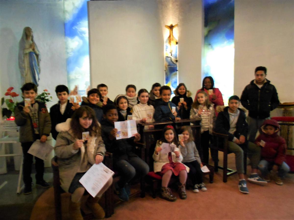 Invitation particulière à un partage d'évangile pour les enfants du catéchisme