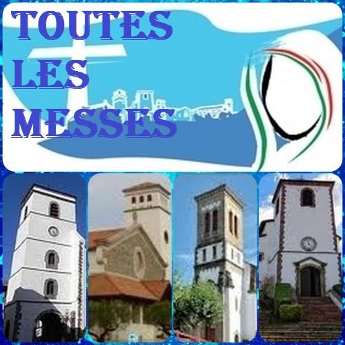 Les messes dans notre paroisse ce weekend  et semaine 37
