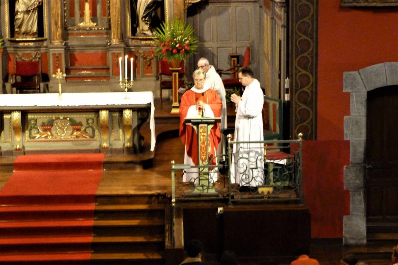 L'abbé Jean-Marc et Baptiste Pochulu qui sera ordonné diacre ce 30 mai