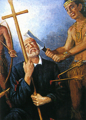 La muerte del padre Barace, pintura indigena.jpg