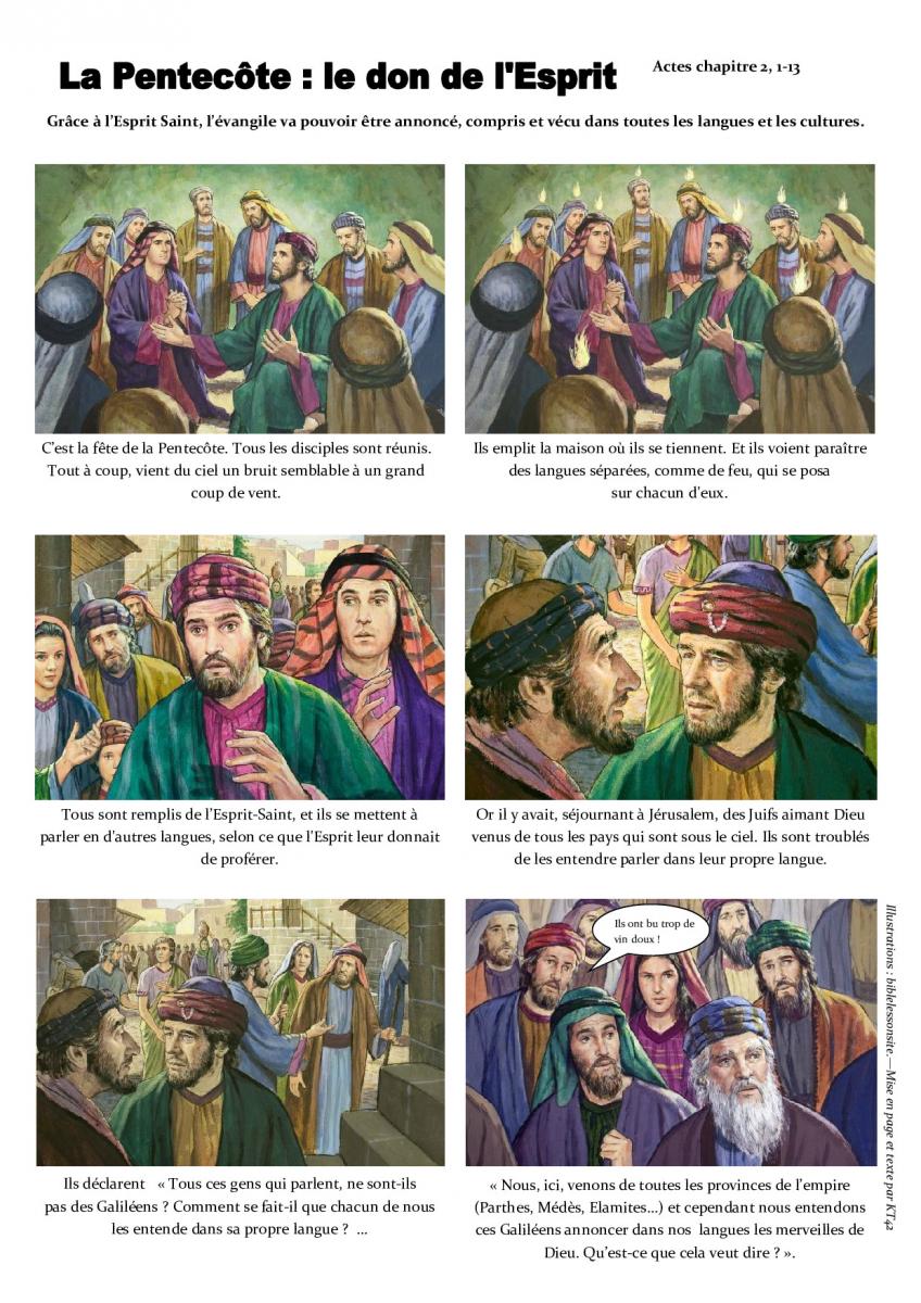 Vers la Pentecôte pour accompagner les enfants