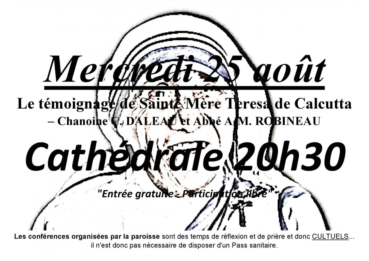 Conférence du 25 août 2021 par le Chanoine C. DALEAU et l'Abbé A-M. ROBINEAU