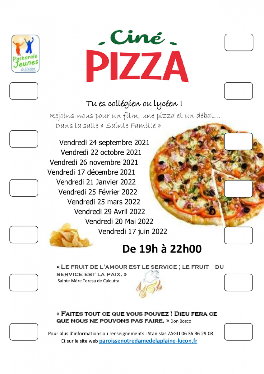 Ciné Pizza, c'est reparti !!!