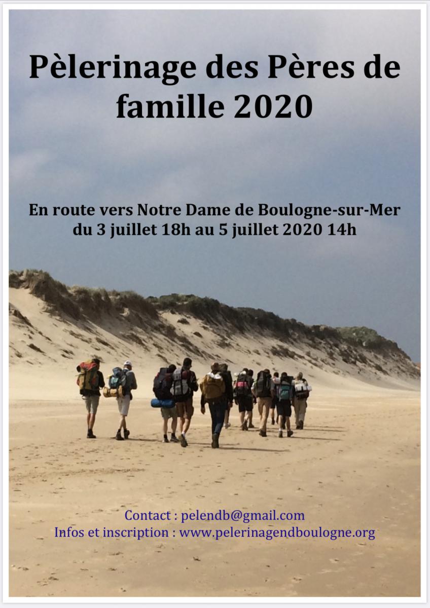 Boulogne sur mer: Pèlerinage des pères de famille 2020