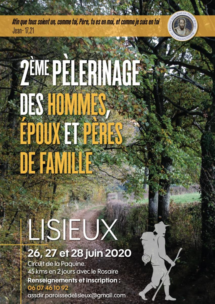 2ème pèlerinage des hommes, époux et pères de famille à Lisieux