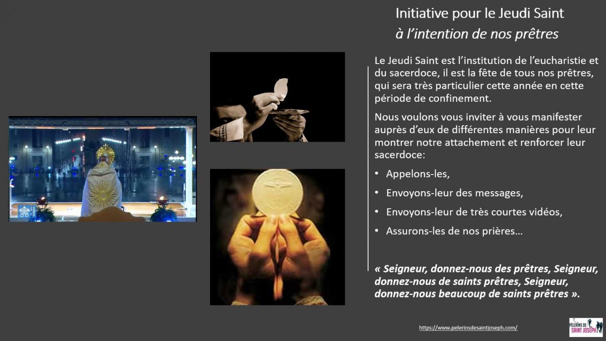 Initiative pour le Jeudi Saint à l'intention de nos prêtres