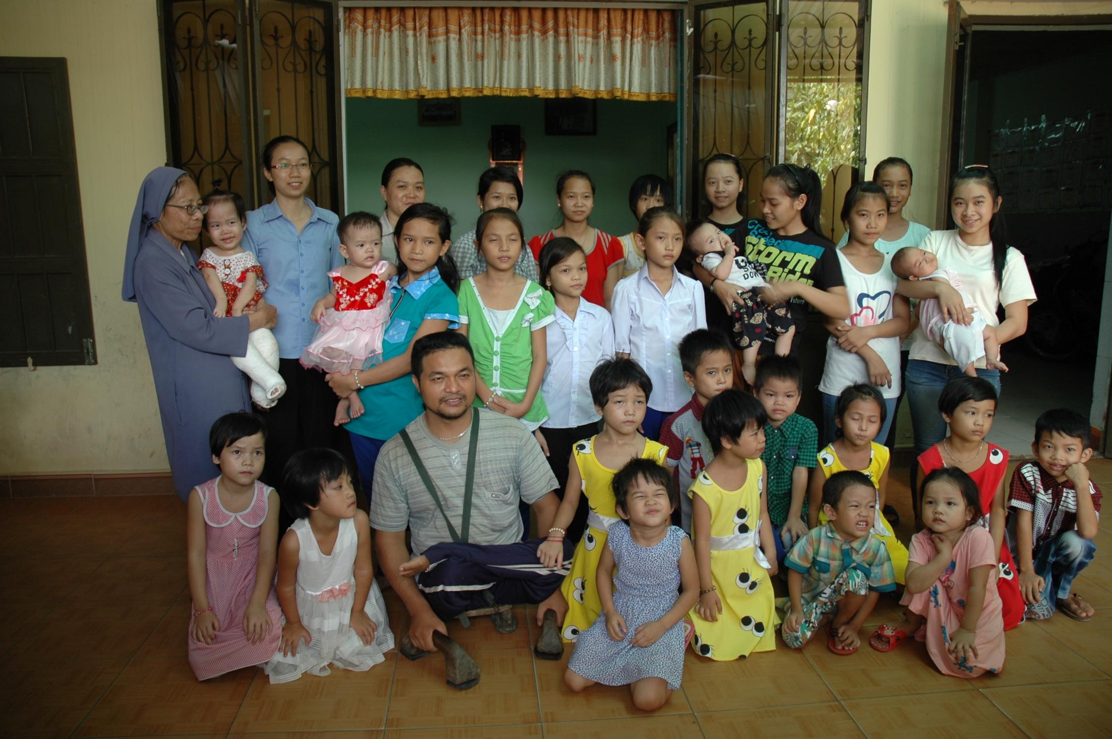 Maison des orphelins et handicapés à Dông Hà.