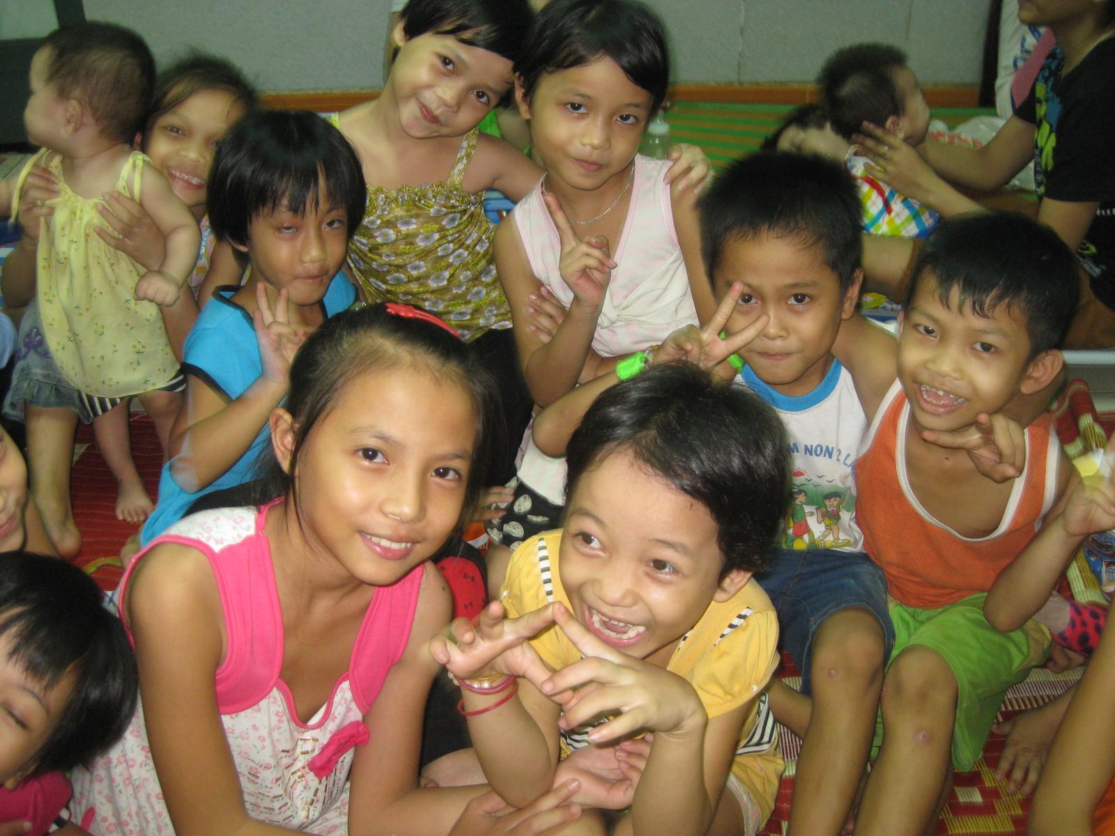 La maison des orphelins et handicapés à Dông Hà.