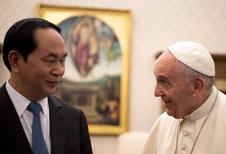 Le président vietnamien reçu au Vatican par le pape