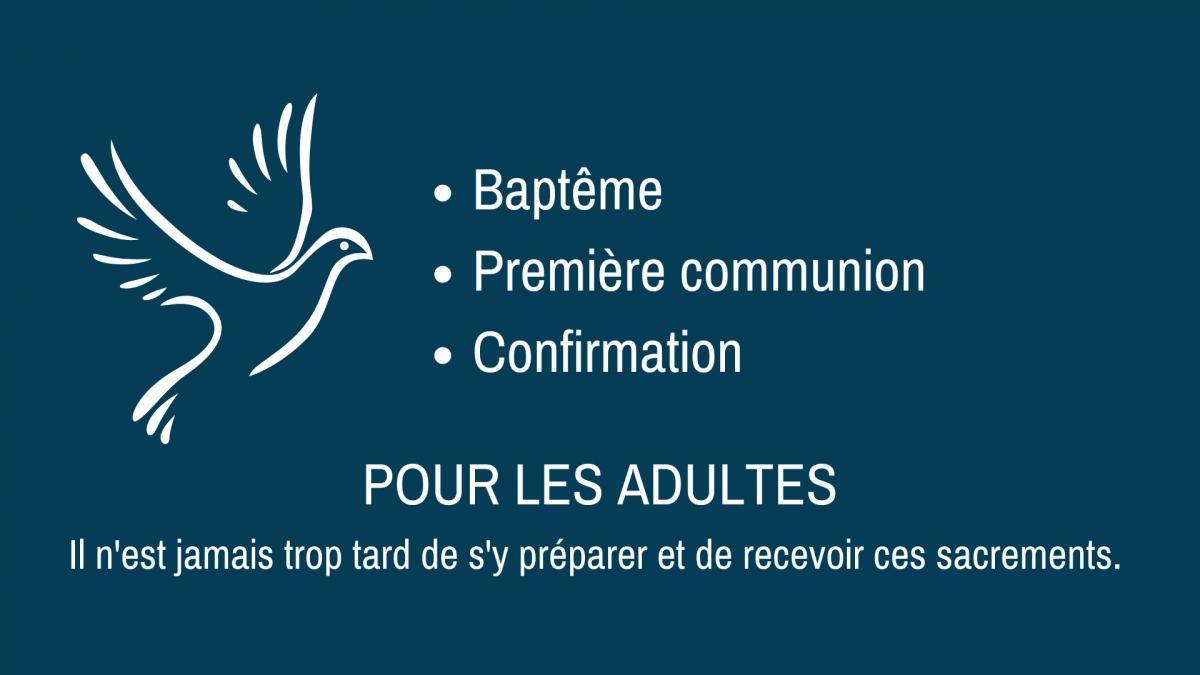 Mercredi 13 octobre : Recevoir un sacrement en étant adulte, c'est possible !