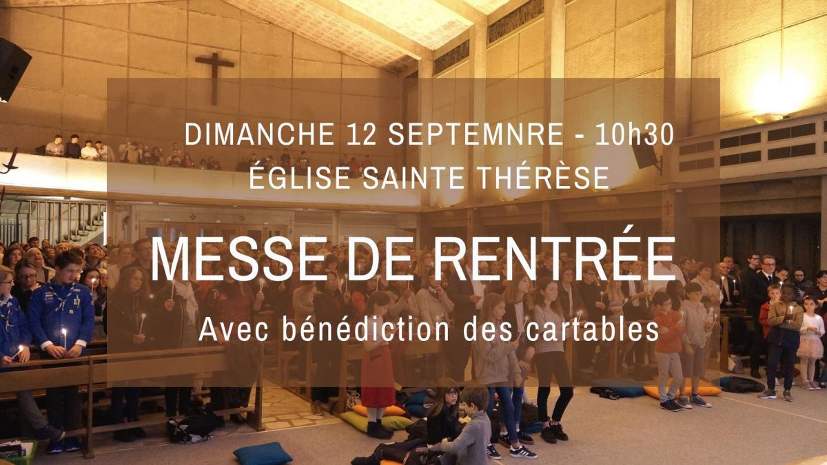 Dimanche 12 septembre : Messe de Rentrée