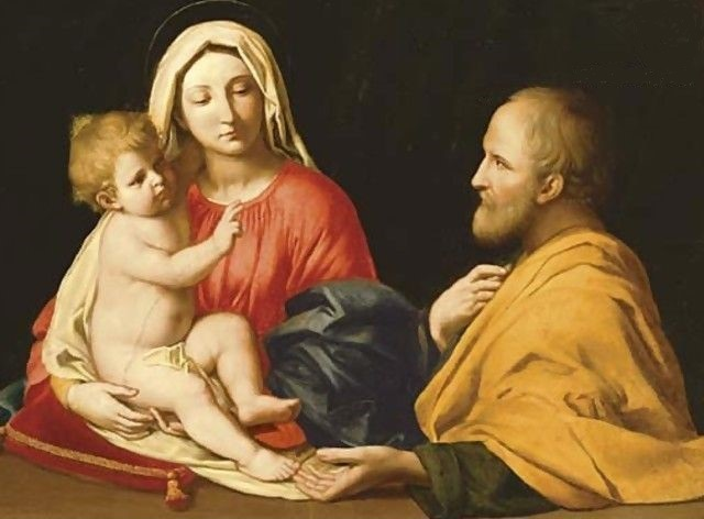 Jésus regardait Joseph prier