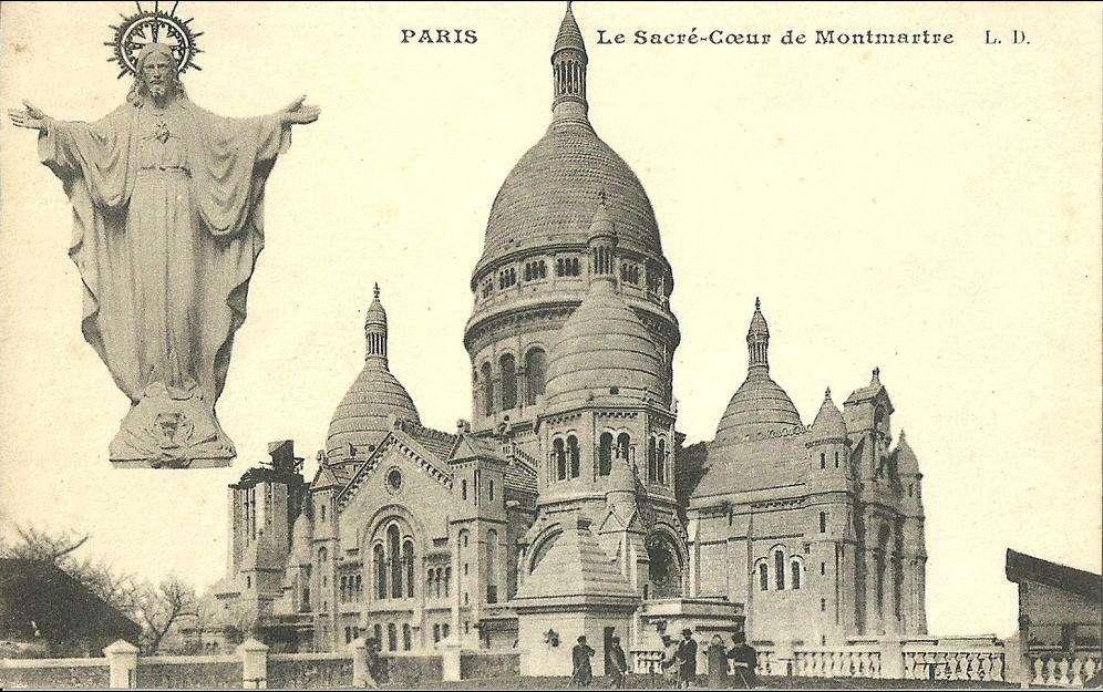 Carte postale Sacré-Coeur début XX° siècle