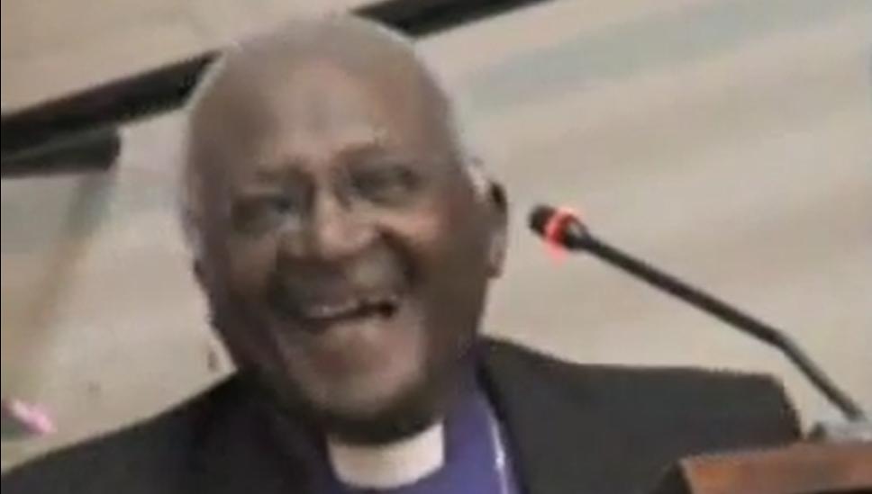 Le fou rire de Monseigneur Desmond Tutu (video)