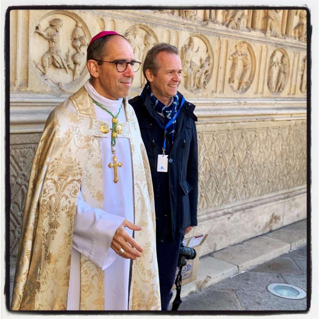 A Notre-Dame de Paris avec Monseigneur Matthieu Rougé