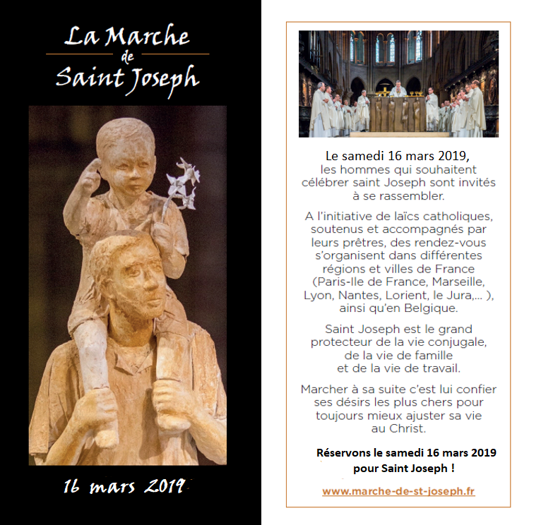 Samedi 16 mars 2019 : save the date et Livret du pélerin