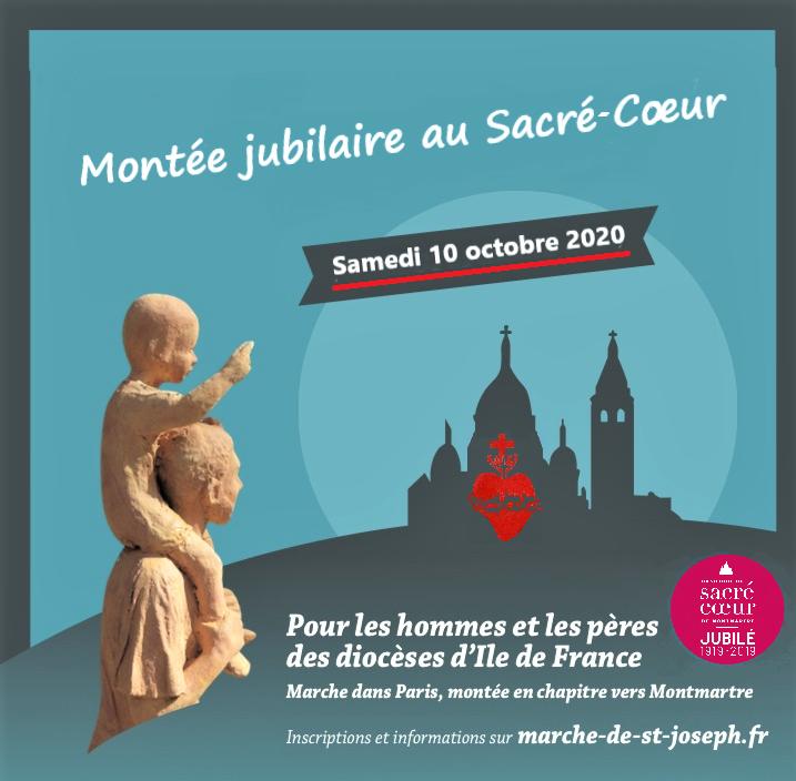 10/10/2020 : Montée des hommes et des pères de famille d'Ile de France vers le Sacré-Coeur !