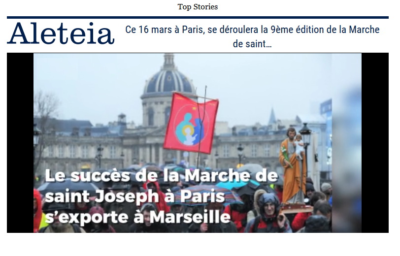 Article Aleteia : La Succès de la Marche de Saint-Joseph