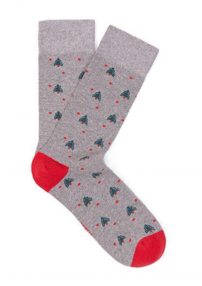 جوراب متوسط خاکستری مردانه ماوی