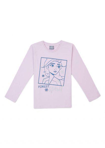 تی شرت طرحدار صورتی دخترانه ماوی