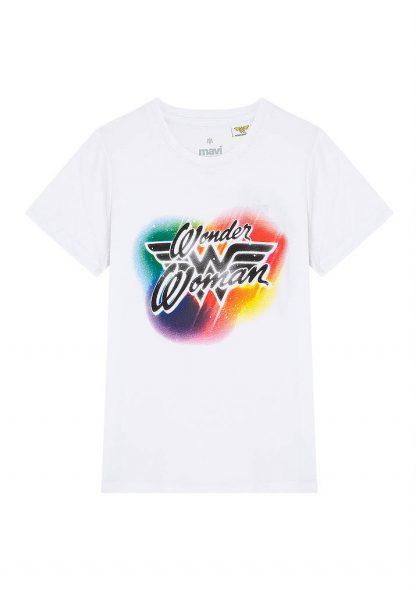تی شرت نوشته دار سفید ماوی