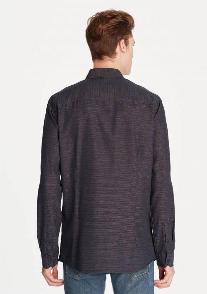 پیراهن آستین بلند جذب سرمه ای مردانه ماوی