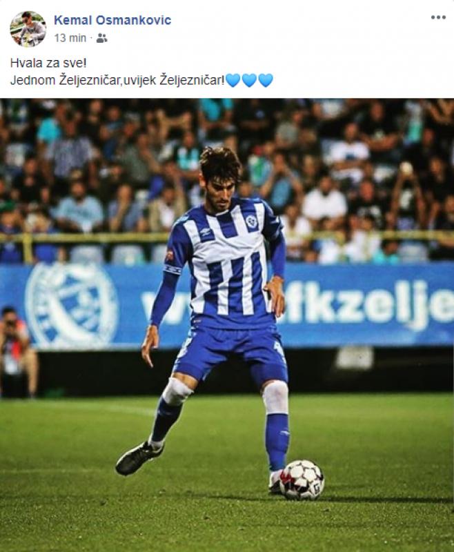 Osmanković.png - (FOTO) Oglasio se i Osmanković nakon napuštanja Grbavice: Jednom Željezničar, uvijek Željezničar