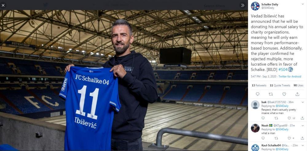 vd.jpg - Nijemci u nevjerici zbog onoga što je uradio Vedad Ibišević: Odriče se plate u Schalkeu i daje je u humanitarne svrhe